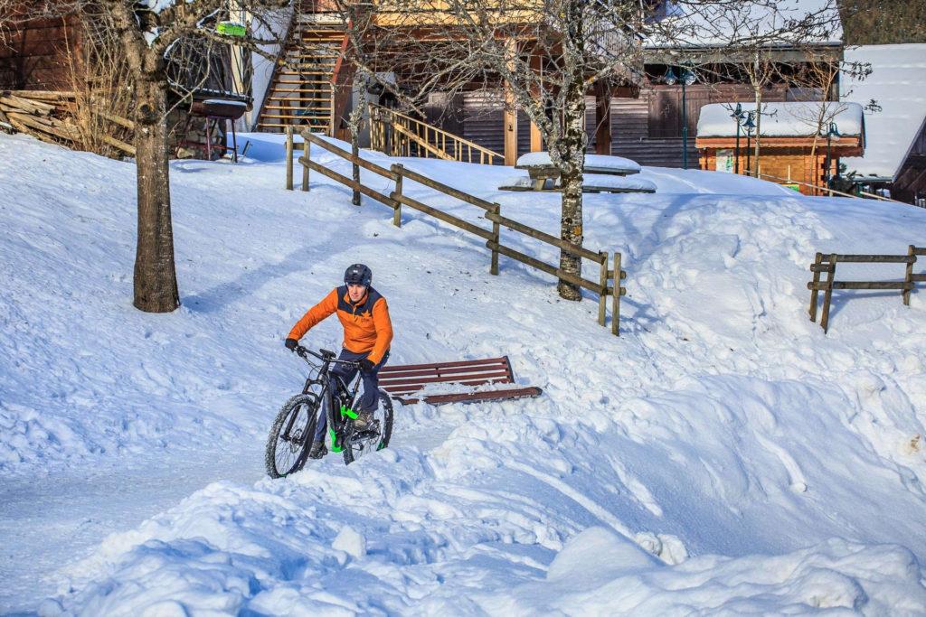 Bosch E-Bike im Schnee