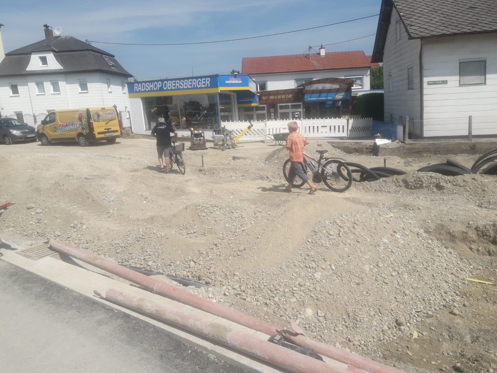 Umbau der Laabstraße vor dem Radshop