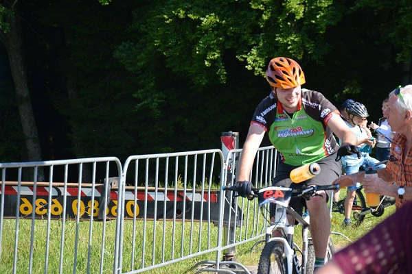 Walter Obersberger Jr. beim MTB Rennen in Maria Schmolln