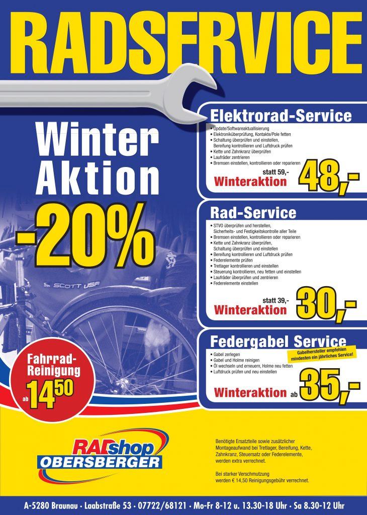 Winter Aktion vom Radshop Obersberger